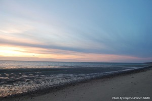 Atlantic Ocean at sunset Cape Cod Mass.