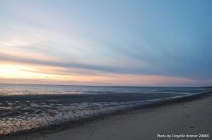 Atlantic Ocean at sunset Cape Cod Mass.