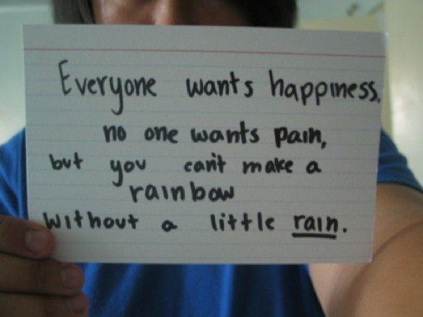 Sometimes a little rain must fall