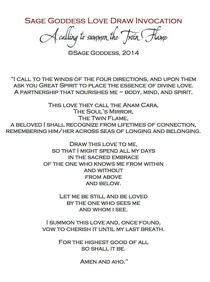 Twin Flame Prayer