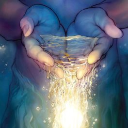 Holding healing light