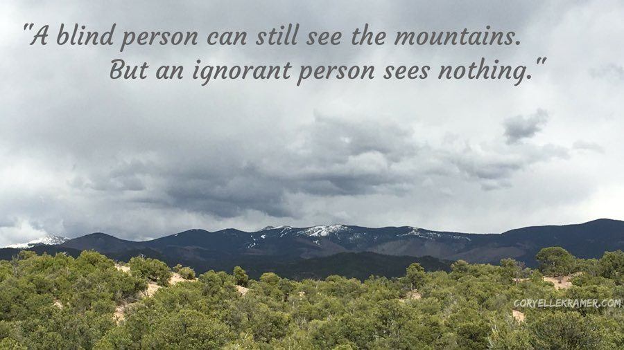 The Blind Person Can See The Mountains but an ignorant person sees nothing