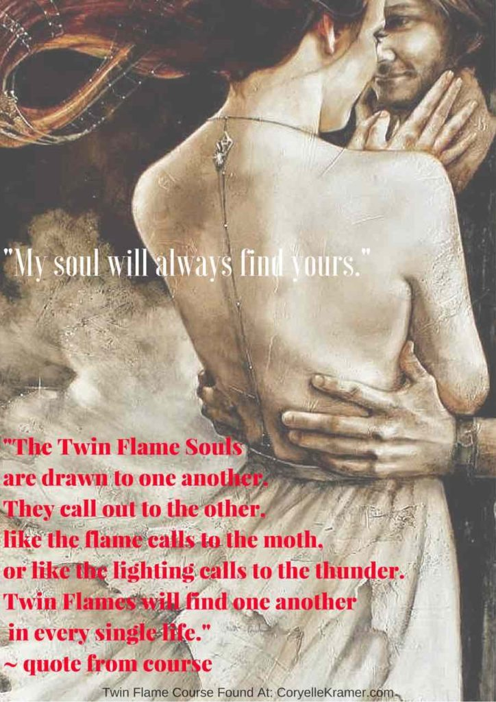 The Twin Flame Souls are drawn to one another like the flame calls to the moth