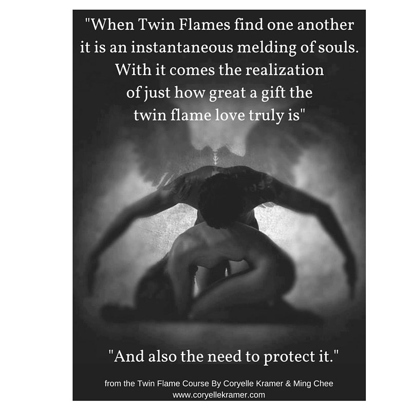 Twin Flames Then they find one anotherit is an instantaneous mel