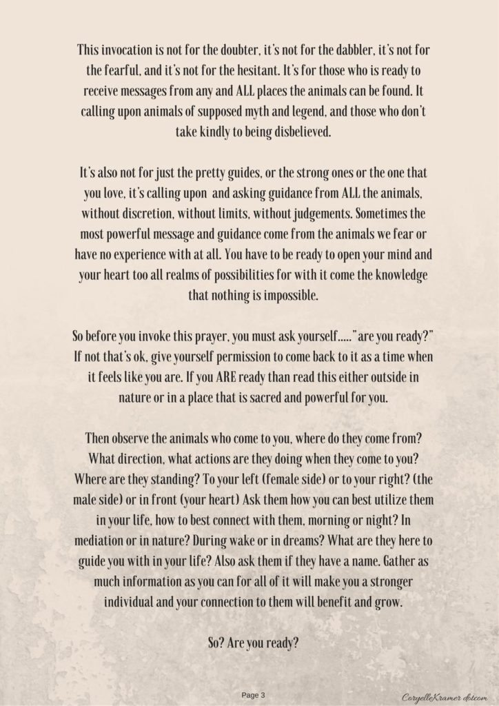Animal Spirit Guide Invocation p1