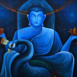 Buddha with Peacock