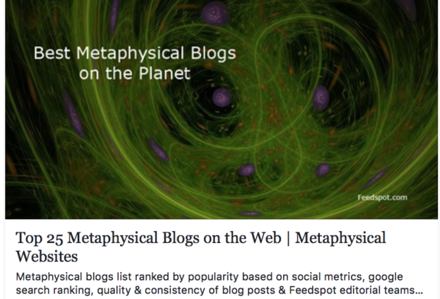 Top 25 metaphysical blogs